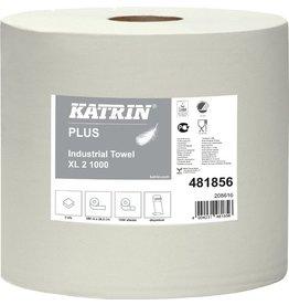 KATRIN Wischtuch Plus XL, Tissue, 2lg., Rolle, 1.000Tü., 26,5x38cm, weiß