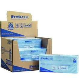 WYPALL* Wischtuch X50, HYDROKNIT®, Interfold, 25x42cm, blau