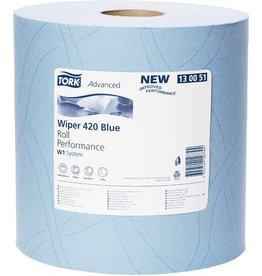 TORK Wischtuch, 2lagig, auf Rolle, 1.500 Tücher, 23,5x34cm, blau