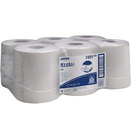 WYPALL* Wischtuch, L20, Airflex®, 1lg., Rolle, 6x400Tü., 18,5x38cm, weiß