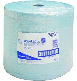 WYPALL* Wischtuch, L30 Ultra+, 3lg., Großrolle, 750 Tücher, 33x38cm, blau
