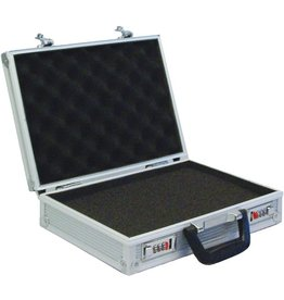 VISO Aktenkoffer, Zahlenschloss, Aluminium, 33 x 22 x 8 cm, silber
