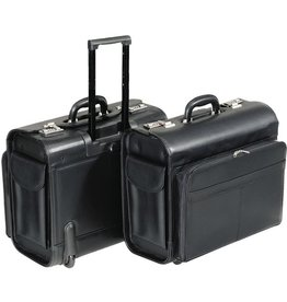 Alassio Pilotenkoffer SAN REMO, mit Laptopfach, Kst.leder, 45,5x26,5x39cm, sw