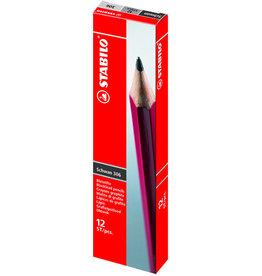 STABILO Bleistift Schwan®, B, Schaft: rot