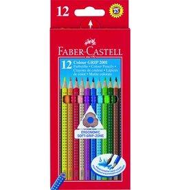 FABER-CASTELL Farbstift Colour GRIP 2001, Kartonetui, Schreibf.: 12er sortiert
