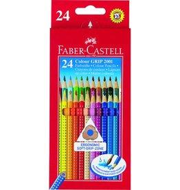 FABER-CASTELL Farbstift Colour GRIP 2001, Kartonetui, Schreibf.: 24er sortiert