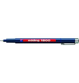 edding Faserschreiber 1800 profipen, 0,5mm, Schreibf.: blau
