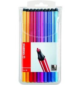 STABILO Faserschreiber Pen 68, M, 1 mm, Schreibf.: 20er sortiert