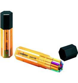 STABILO Fineliner point 88®, Big point Box, 0,4 mm, Schreibf.: 20er sortiert