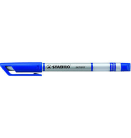 STABILO Fineliner sensor®, Kappe, F, 0,3mm, Schreibf.: blau