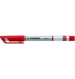 STABILO Fineliner sensor®, Kappe, F, 0,3mm, Schreibf.: ro