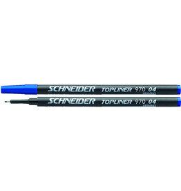 Schneider Finelinermine TOPLINER 970, 0,4mm, Schreibf.: blau [10st]