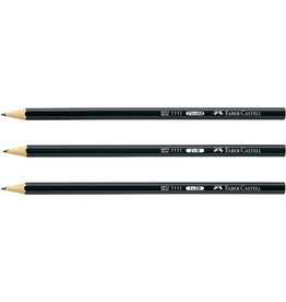 FABER-CASTELL Bleistift 1111, sechseckig, B, Schaft: schwarz