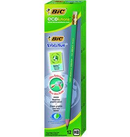 BIC Bleistift ecolutions® EVOLUTiON™, m.Rad., HB, Schaft: grün