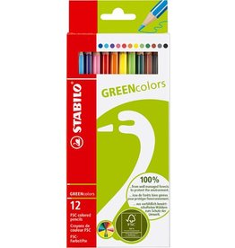 STABILO Farbstift GREENcolors, Schreibf.: 12er so