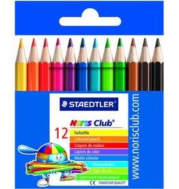 STAEDTLER Farbstift Noris Club®, kurz, Minen-Ø: 3 mm, Schreibf.: 12er sortiert
