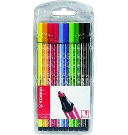 STABILO Faserschreiber Pen 68, M, 1 mm, Schreibf.: 10er sortiert