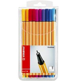 STABILO Fineliner point 88®, ColorParade, 0,4 mm, Schreibf.: 20er sortiert