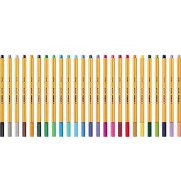 STABILO Fineliner point 88®, mit Kappe, 0,4 mm, Schreibf.: 15er sortiert