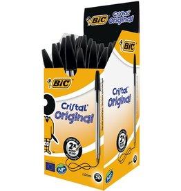 BIC Kuli, Cristal®, 0,4 mm, Schaft: farblos, tr, Schreibf.: schwarz