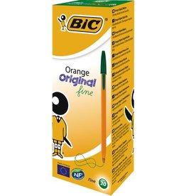 BIC Kuli, Orange™, 0,35 mm, Schaft: orange, Schreibf.: grün
