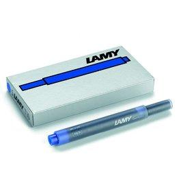 LAMY Tintenpatrone T 10, für: Füllhalter, Großraum, Schreibf.: blau