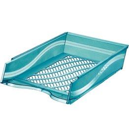 bene Briefkorb, PS, C4, 255 x 370 x 65 mm, blau, transparent