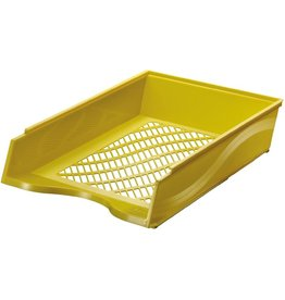 bene Briefkorb, PS, C4, 255 x 370 x 65 mm, gelb