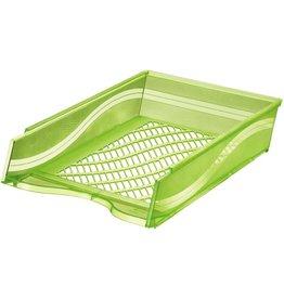 bene Briefkorb, PS, C4, 255 x 370 x 65 mm, grün, transparent