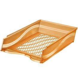 bene Briefkorb, PS, C4, 255 x 370 x 65 mm, orange, transparent