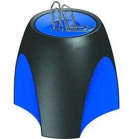 HAN Klammernspender DELTA, leer, magnetisch, rund, schwarz/blau
