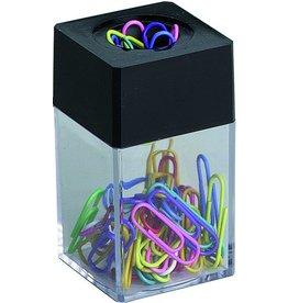 ALCO Klammernspender, magnetisch, eckig, 42x42x70mm, farblos/schwarz