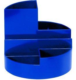 MAUL Köcher Rundbox, Kst., 140 x 125 mm, 4 Fächer, blau