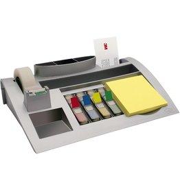 Post-it Schreibtischorganizer, Kunststoff, 250 x 168 x 68 mm, silber
