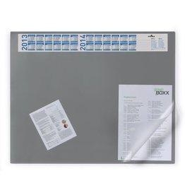 DURABLE Schreibunterlage, mit Vollsichtauflage, 65 x 52 cm, grau