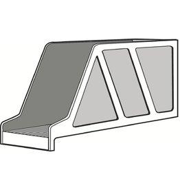LEITZ Stehsammler Standard, Kst., m.Greifaus., A4q, 97x336x156mm, grau
