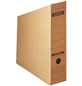 LEITZ Stehsammler, Wellp.(RC), A4, Füllbreite: 77mm, 80x265x200/320mm, braun
