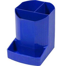 EXACOMPTA Stifteköcher MINI-OCTO, achteckig, 90x111x123mm, 4 Fächer, kobaltblau