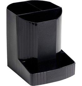 EXACOMPTA Stifteköcher MINI-OCTO, achteckig, 90x111x123mm, 4 Fächer, schwarz