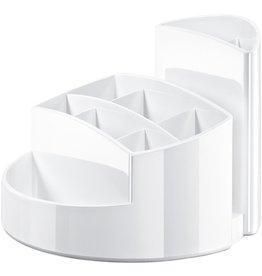 HAN Stifteköcher RONDO, Kunststoff, rund, 140x109mm, 9 Fächer, weiß