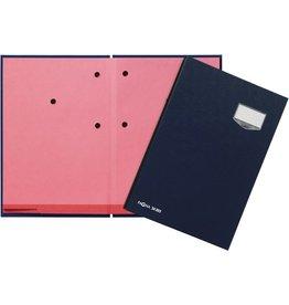 PAGNA Unterschriftsmappe, ECO, A4, 24 x 35 cm, 20 Fächer, blau