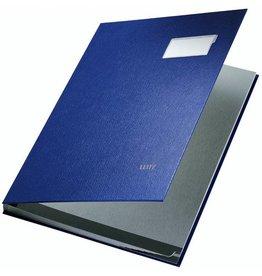 LEITZ Unterschriftsmappe, PP-kaschiert, A4, 10 Fächer, blau