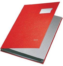 LEITZ Unterschriftsmappe, PP-kaschiert, A4, 10 Fächer, rot