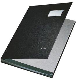 LEITZ Unterschriftsmappe, PP-kaschiert, A4, 10 Fächer, schwarz