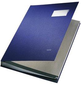 LEITZ Unterschriftsmappe, PP-kaschiert, A4, 20 Fächer, blau