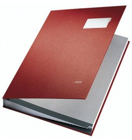 LEITZ Unterschriftsmappe, PP-kaschiert, A4, 20 Fächer, rot