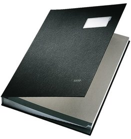 LEITZ Unterschriftsmappe, PP-kaschiert, A4, 20 Fächer, schwarz