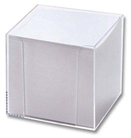 folia Zettelbox, gefüllt, 95x95x95mm, farblos, transparent, Inhalt: weiß