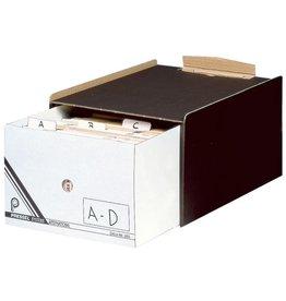 Pressel Schubladenbox, mit 1 Schublade, A5, dunkelbraun/weiß