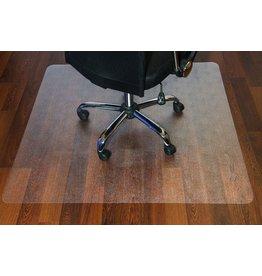 STAPLES Bodenschutzmatte, Hartboden, PC, 120 x 150 cm, farblos, transparent